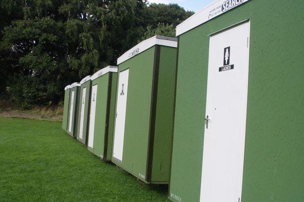 Next to some toilets