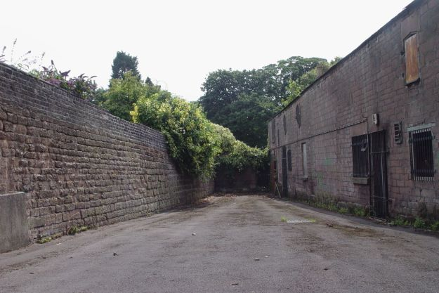 Allerton Hall's abandoned stable block.
