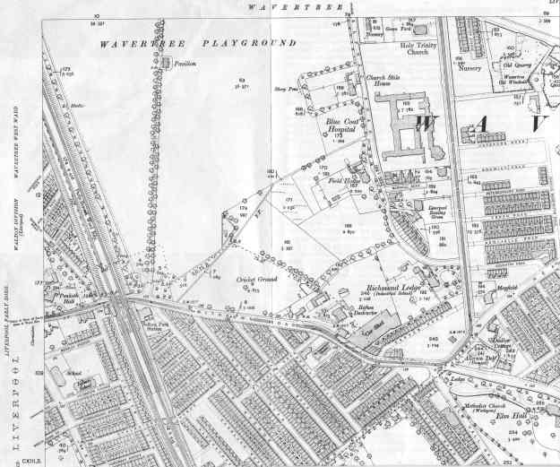 OS map of Wavertree, 1905.
