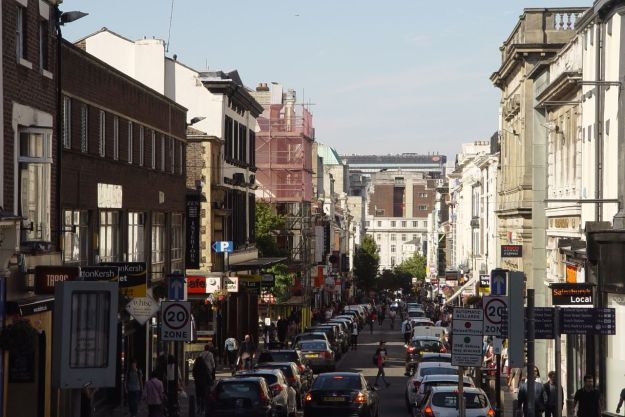 Bold Street, the heart of Liverpool.