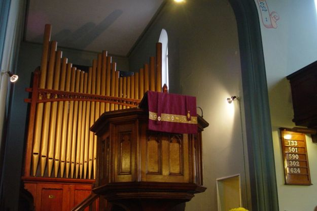 Every six moths the church organ needs maintaining to keep its pipes in working order.