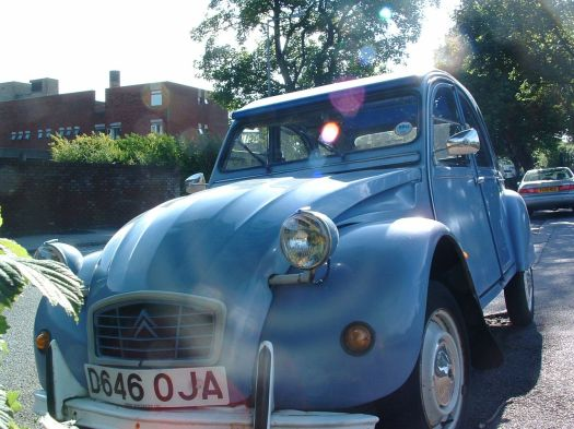 Yes, we had two cars in those days. Here's Sarah's 2CV.