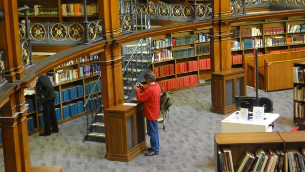 As Sarah has noticed from across the library.
