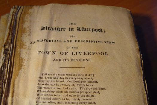 My 1820 edition of 'The Stranger in Liverpool'