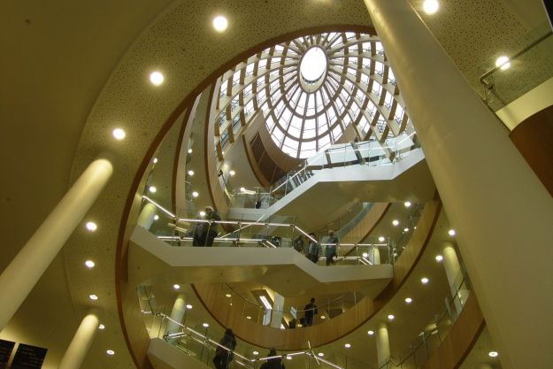 Having worked as a librarian in Melbourne and Perth all her working life, it had to be Liverpool Central Library.