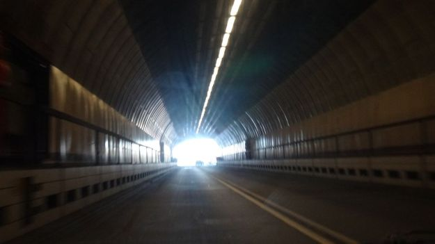 And before long you'll be approaching a light at the end of the tunnel. Nearly at the Wirral!