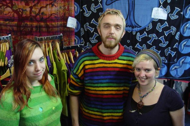 Thanks for the hospitality, the historical photos and for showing me round. Chloe, Martin and Jen of the Hippy Hole.