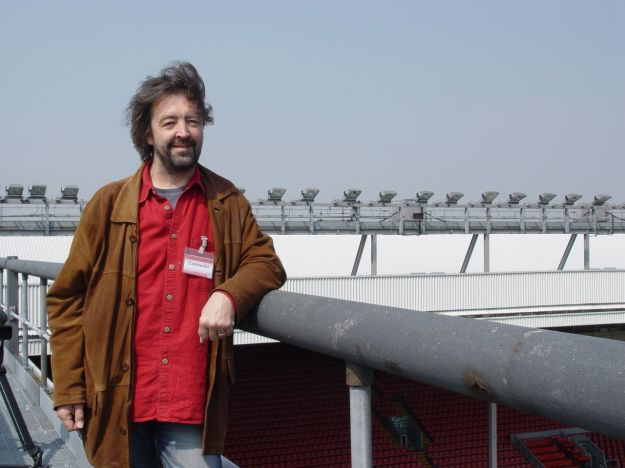 And me, April 2005, 'Liverpool Football Contractor' the badge says. Closest I ever got to the first team.