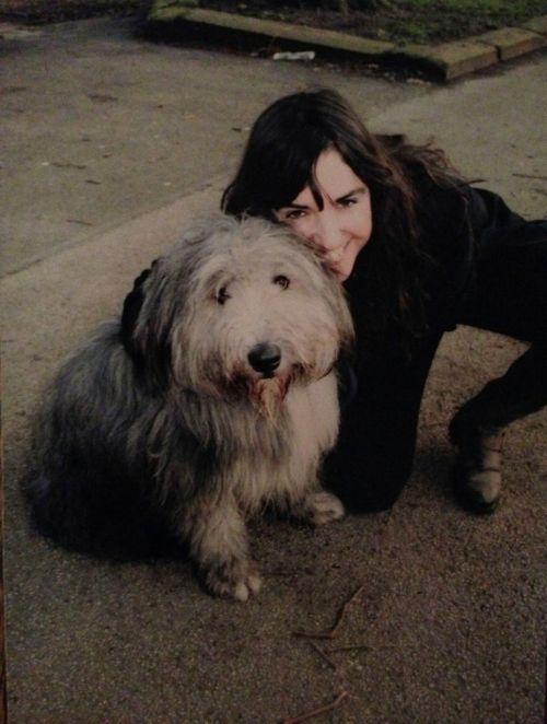 Sarah Jones, and her dog.
