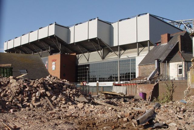Over the road from the stadium 'Housing Market Renewal' is still in action.