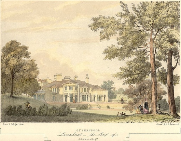 Otterspool House, once the home of slave-owner John Moss.