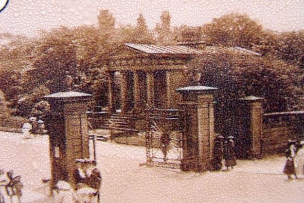 The park used to have this Doric Lodge by its gates, destroyed in an air raid in World War Two.