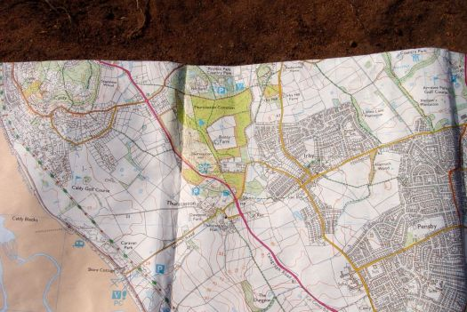 The Ordnance Survey Explorer Map266, covering the whole of the Wirral
