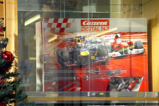 And there in the window, a Scalextric Set.