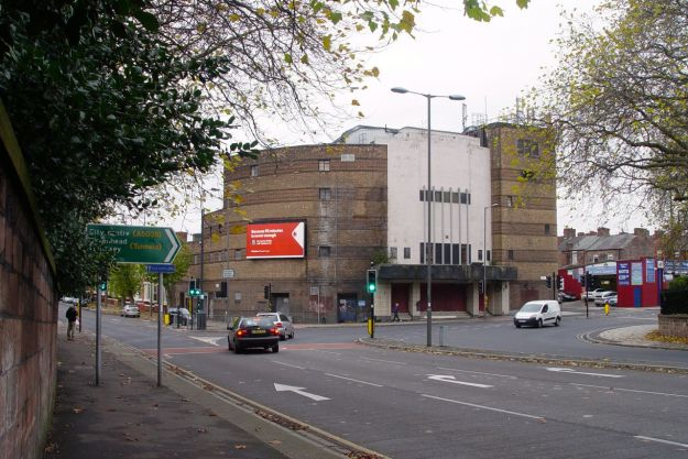 Past this closed for years cinema, that's mainly a great big phone mast these days.