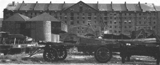 The Duke's Dock warehouse. Built in 1811, photographed in 1963.