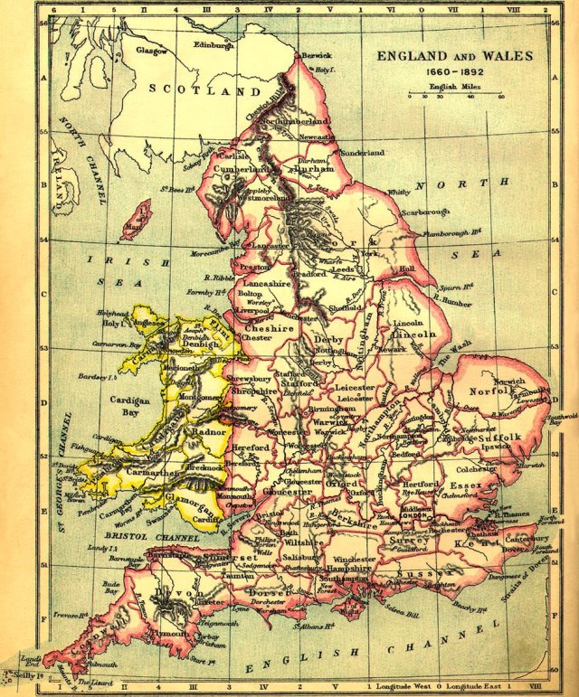 The way it was. The traditional counties of Wales and England.