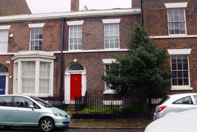 My friend Pat lives here, in a ground floor flat at 36 Falkner Street.