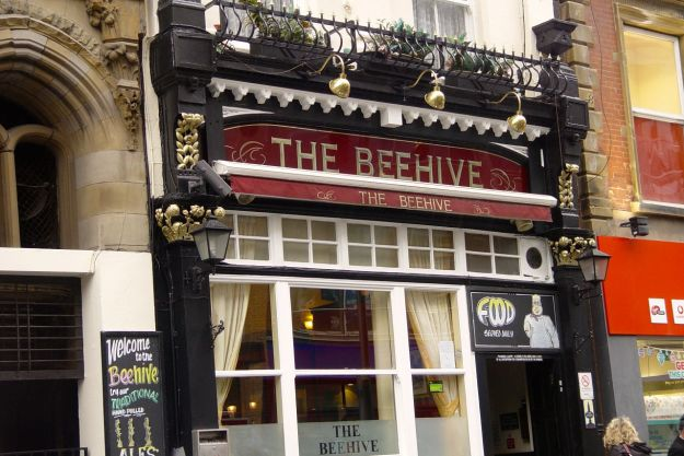 Round the corner is The Beehive.