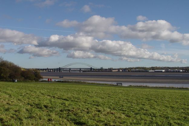 And within sight of the Runcorn bridges.