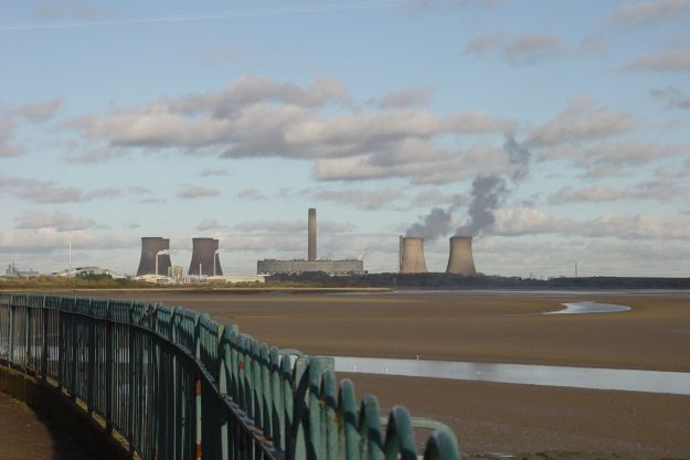 The scene today. Fiddler's Ferry Power Station in the distance.