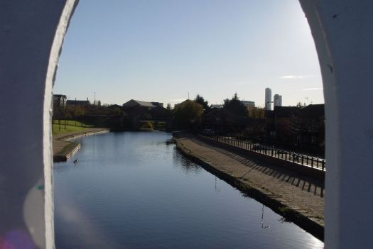 Looking south from this bridge to where Tate & Lyle's sugar refinery used to be.