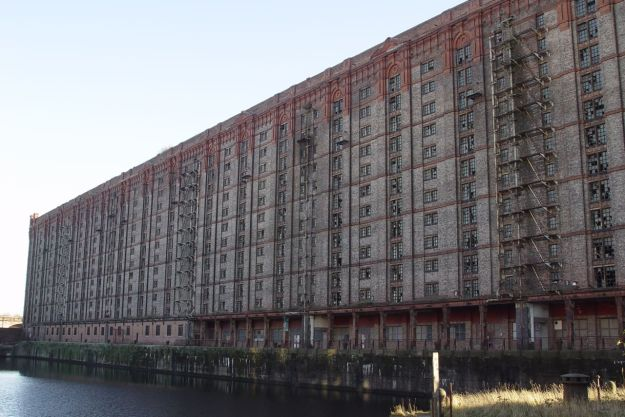 The world's largest brick warehouse. That's 27 million bricks you're looking at here.