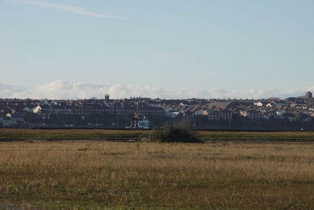Looking across the Trafalgar and Victoria Docks to Wallasey.