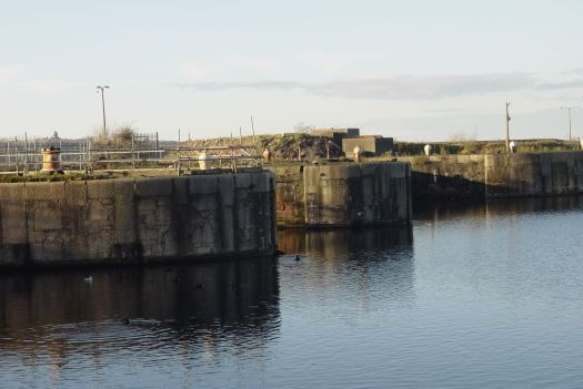 The locks at the Princes Half-Tide dock.