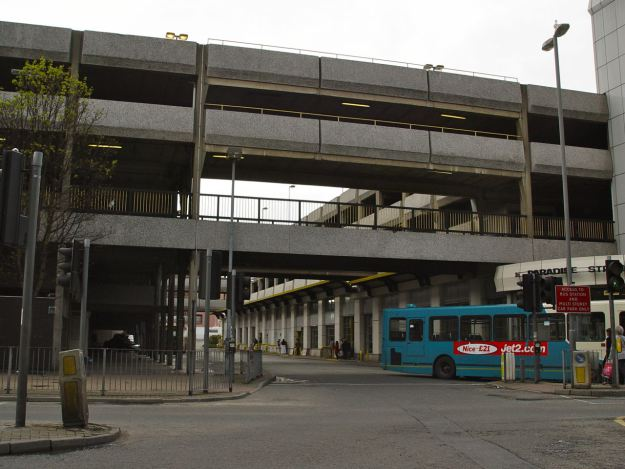 And opposite to the left, the astoundingly ugly Paradise Street bus station and multi storey. The height of modern in 1973.
