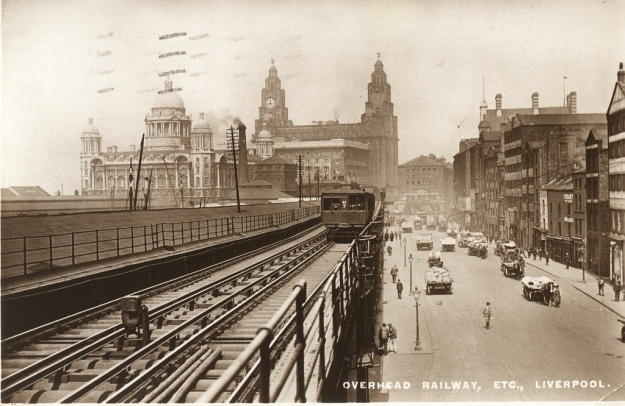 The Liverpool Overhead Railway.