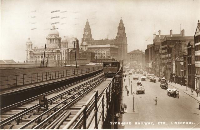 The Liverpool Overhead Railway.