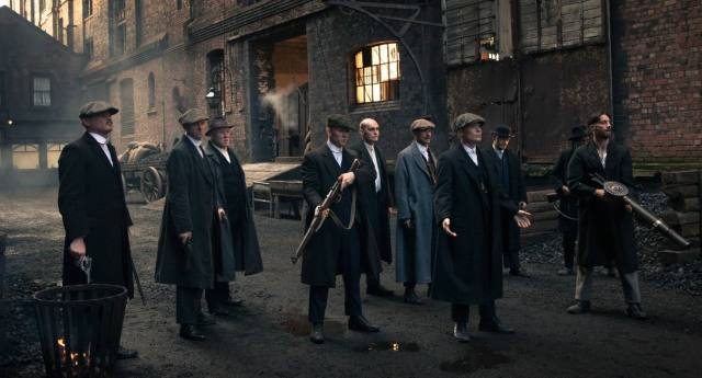 The Peaky Blinders at Stanley Dock.