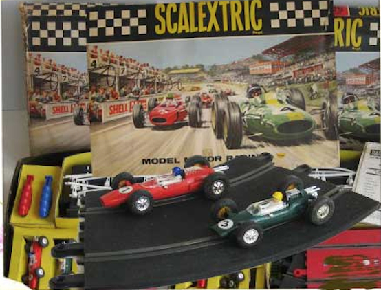 The glory of a 1960s Scalextric set.