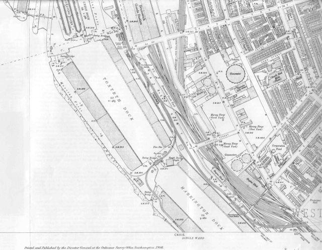 To Harrington and Toxteth Docks.