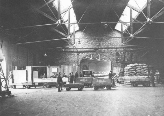 Inside the Toxteth Dock in the 1920s.