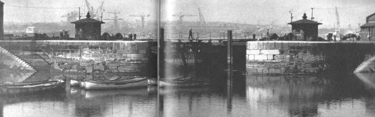 Brunswick Dock Gates in the early 1960s.
