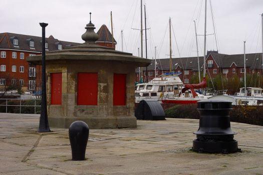 Where the Brunswick Half Tide Dock was.