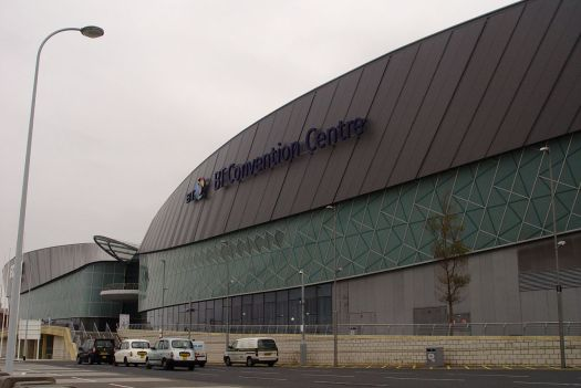 Passing the BT Conference Centre and the Echo Arena.