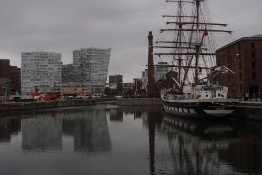 Looking across to Liverpool One, built on top of Liverpool's original 18th century dock.