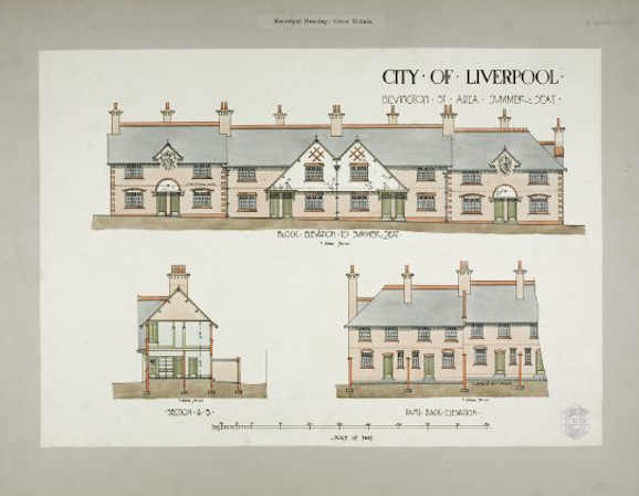 The lovely original drawings for Summer Seat, 1911.