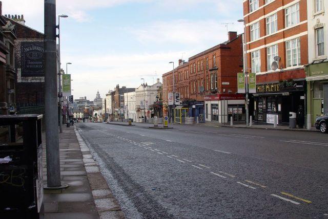 Down Hardman Street.
