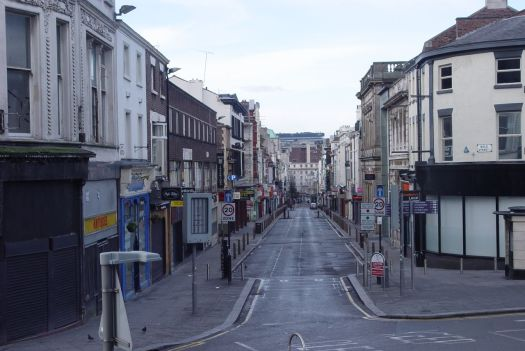 And down the hill, a magnificently empty Bold Street.