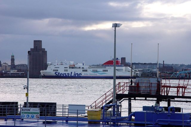 The Belfast Ferry, more usually seen sort of river traffic.