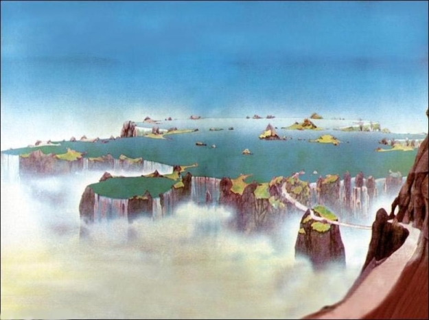 Like places Roger Dean imagined and painted for Yes.