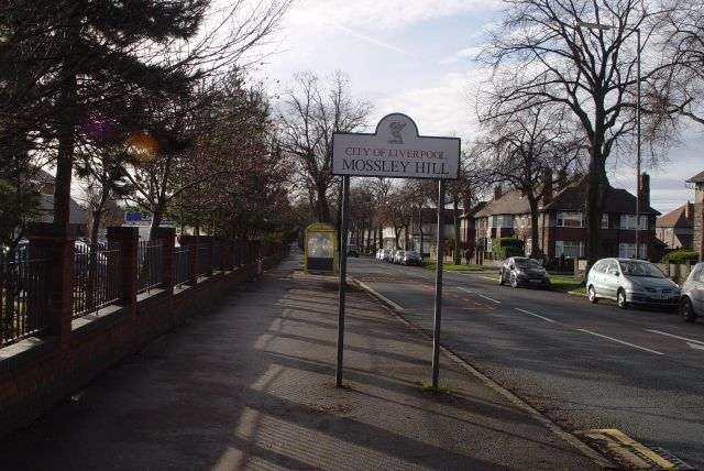 Then turning right into Rose Lane, Mossley Hill.