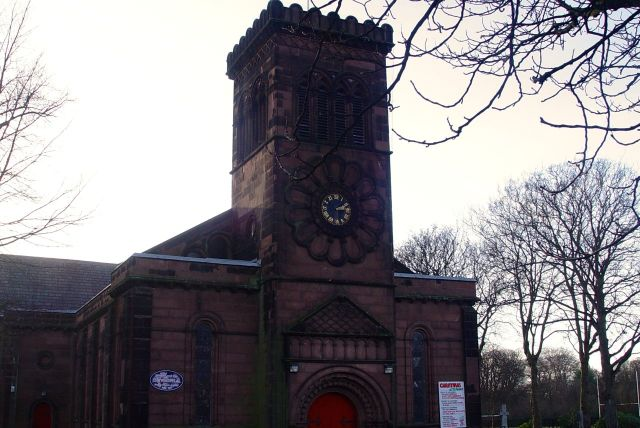 Here is the church, St Anne's.