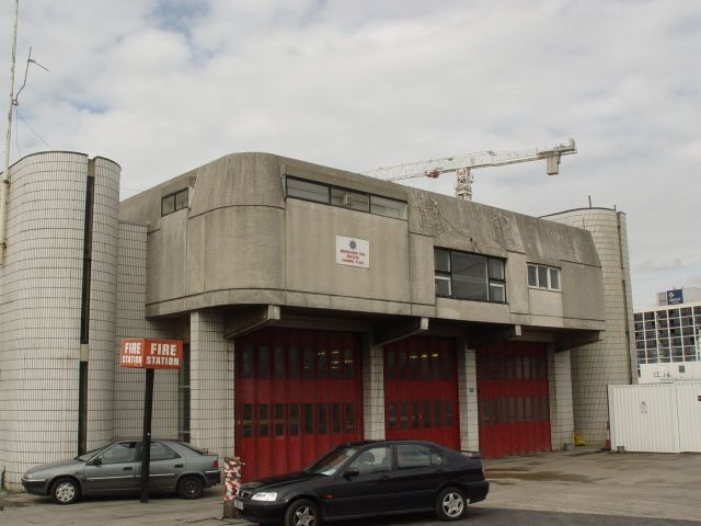 The Fire Station hanging on - soon to go.