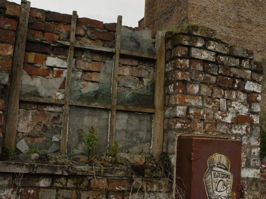 Ancient window, modern graffiti.