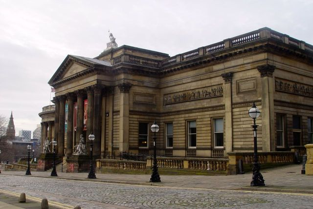 Then all of a sudden we're at the city centre. The Walker Art Gallery here.